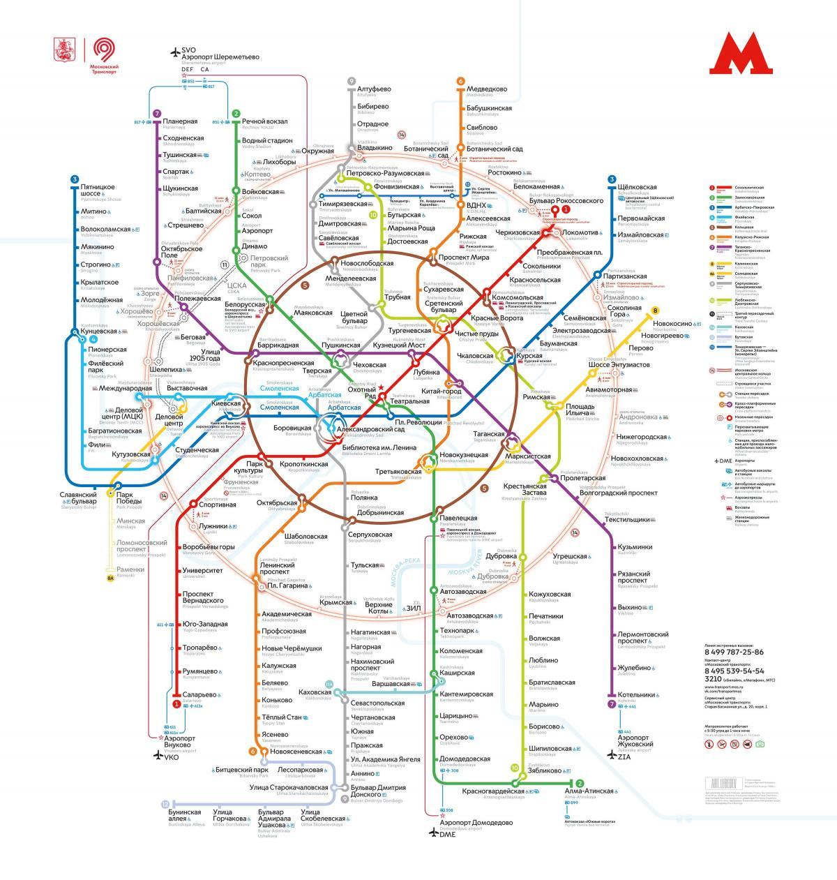 Moscova Metrou Harta Metrou Hartă Moscova Rusia